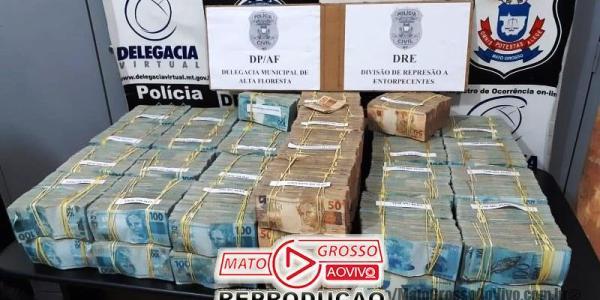 Investigações apontam que 4,6 milhões apreendidos pela Polícia Civil de Alta Floresta seriam para compra de ouro ilegal 29
