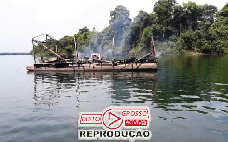 Garimpeiros próximos a Usina de São Manoel, no Rio Teles Pires, são retirados a força e balsas queimadas pelo Ibama 66