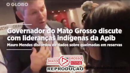 Mauro Mendes discute om indigena na ONU