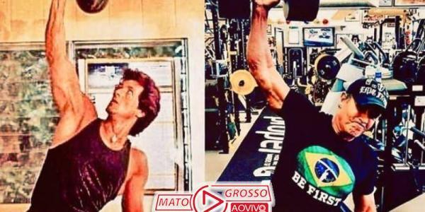 "A Lá Brazil | Sylvester Stallone mostra físico e afirma estar ""melhor"" aos 73 anos do que aos 35 44"