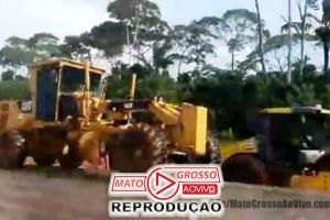 Povo de Alta Floresta é surpreendido com início de obras do Pedágio no Domingo e impedem trabalho das máquinas 66