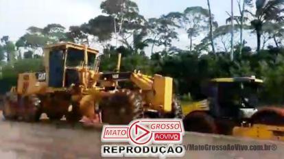 Povo de Alta Floresta é surpreendido com início de obras do Pedágio no Domingo e impedem trabalho das máquinas 10
