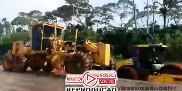 Povo de Alta Floresta é surpreendido com início de obras do Pedágio no Domingo e impedem trabalho das máquinas 31