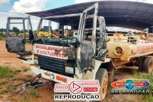 Inquérito será instaurado se houver indícios de incêndio criminoso em caminhão da Brigada de Incêndios de Alta Floresta 75