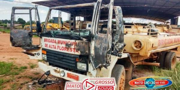 Inquérito será instaurado se houver indícios de incêndio criminoso em caminhão da Brigada de Incêndios de Alta Floresta 23