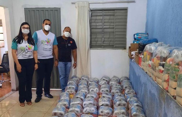Unicred MT doa mais de 1 tonelada de alimentos para instituição de Barra do Garças