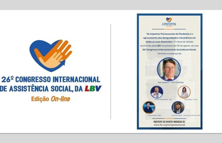 """Representante da FAO fala sobre """"Segurança alimentar e nutricional e os impactos da pandemia"""" em evento da LBV"""