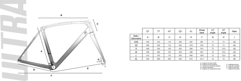 """Résultat de recherche d'images pour """"cotes cadre vélo ultra cf"""""""
