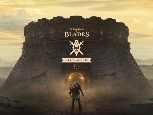 Elder Scrolls - Blades, game start screen