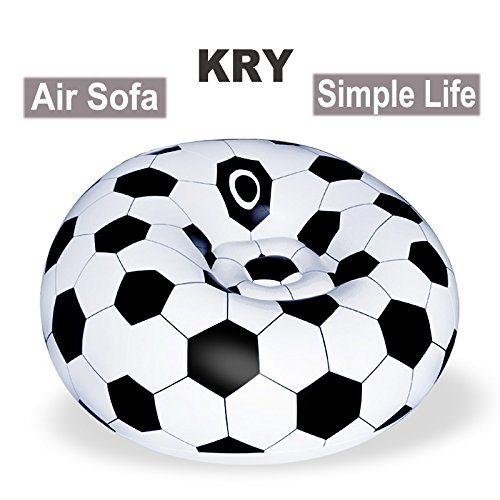 kry Air Cushion Porable Seat Football sofá Outdoor Rest Inflatable Tool Chairs camping Beach Mat swimming Floating Holiday Relax Single Air sofá Mattress by kry