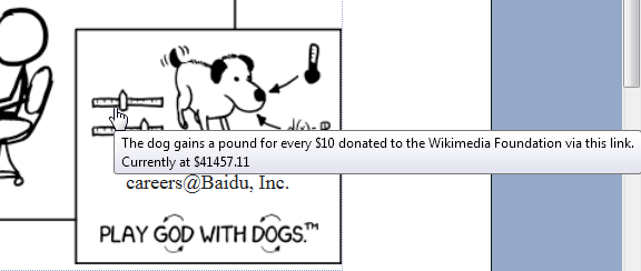 xkcd.com Donation Mouseover Text