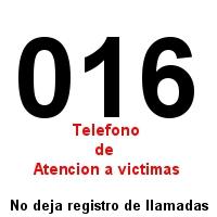 Telefono de asistencia a victimas