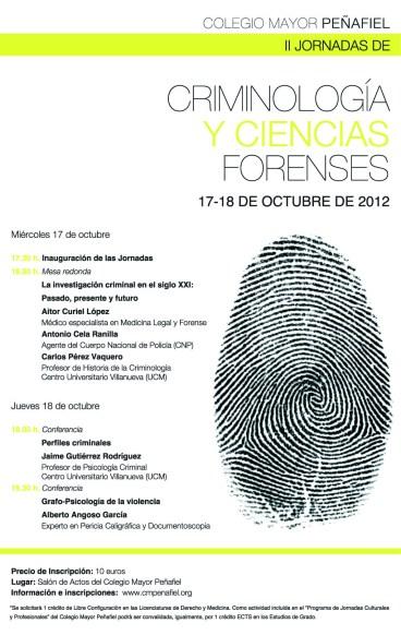 Jornadas sobre Criminología y Ciencias Forenses