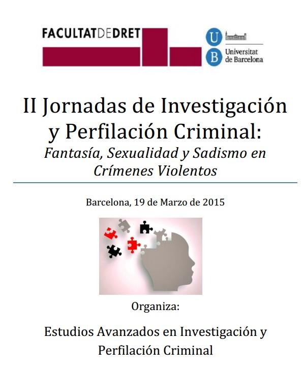 II Jornadas de Investigación y Perfilación Criminal