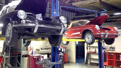 Meticulous preventative maintenance on vintage Porsche 356's