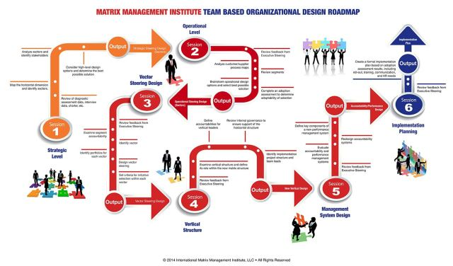 Matrix Management Team-Based Organizational Design Roadmap