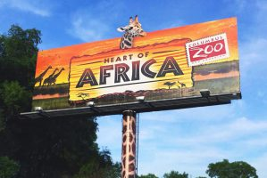 Columbus Zoo: Heart of Africa (Billboard) – June 2014, USA.