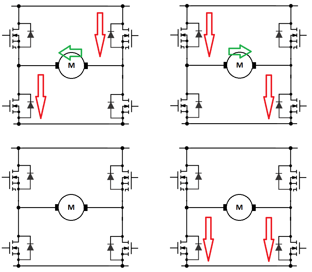 H Bridge Circuit Diagram With Forward Reverse