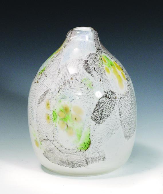 Benny Motzfeldt. Vase. Utført ved PLUS glasshytte. (Foto: Blomqvist Nettauksjon)