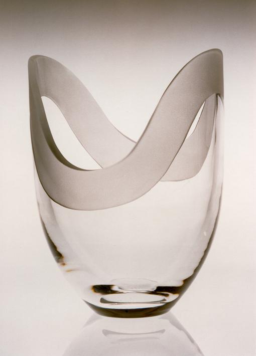 Edla Freij. Vase. Utført ved Hadeland Glassverk. Annen halvdel av 1970-tallet. (Hadeland Glassverk)