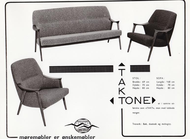 Takt og Tone. Produsert av Møre Lenestolfabrikk.
