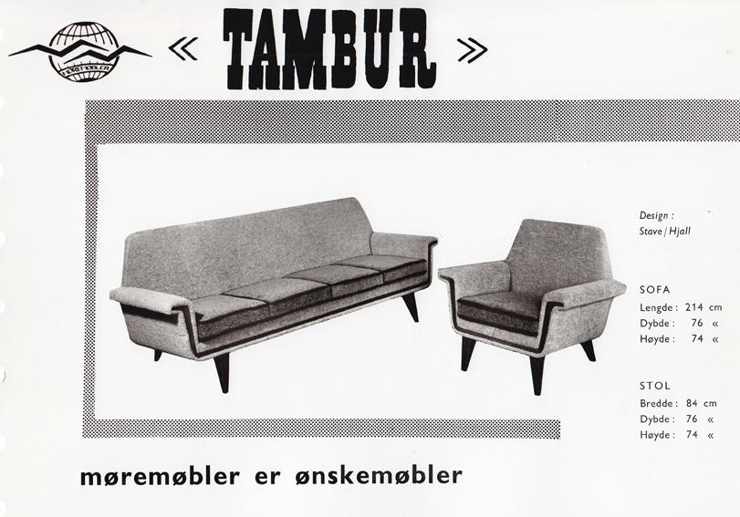 Tambur. Produsert av Møre Lenestolfabrikk.