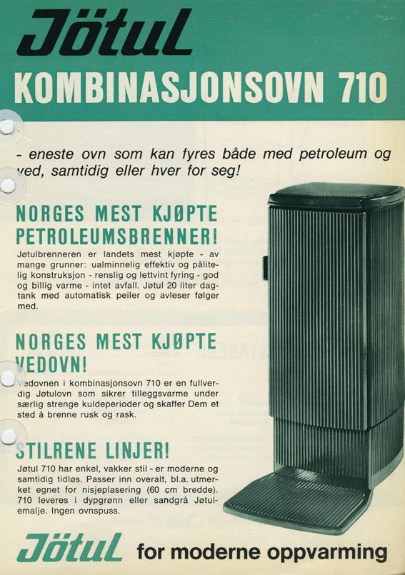 Reklame for Jøtul kombinasjonsovn 710.