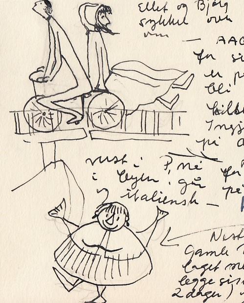 """I et brev skriver Anne-Marie Ødegaard om livet på Porsgrunds Porselænsfabrik og skildrer hvordan Ellef Gryte """"dødsridd"""" på sykkelen sin og hun selv går på danskeskole. (Foto: Mats Linder)"""