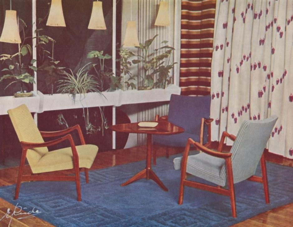 Ingmar Relling. Modell: 420. Produsert av Vestlandske Møbelfabrikk. I produksjon fra 1950.