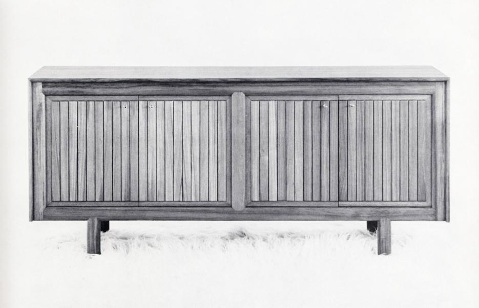 Arne Halvorsen. Modell: 49. Produsert av L. Jacobsens Møbelsnekkeri. I produksjon fra ca. 1962-64.
