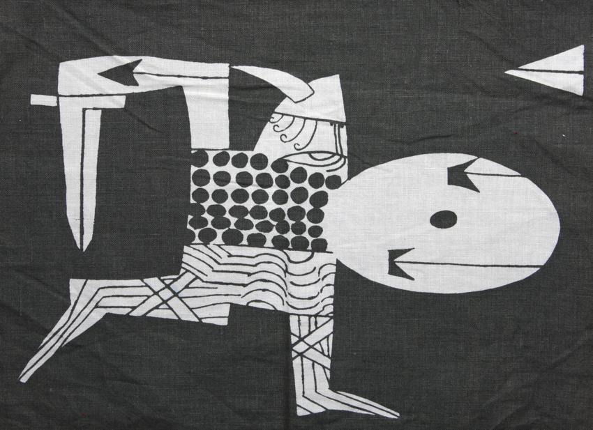 Hermann Bongard. Brikke. Motiv: Einar Viking. Utført ved PLUS. Ca. 1960. (Foto: Mats Linder)