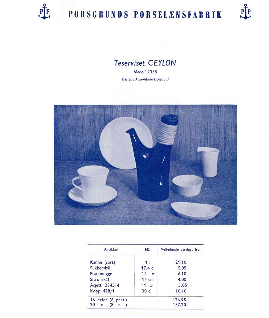 Reklame for teserviset Ceylon. (Telemark Museum)