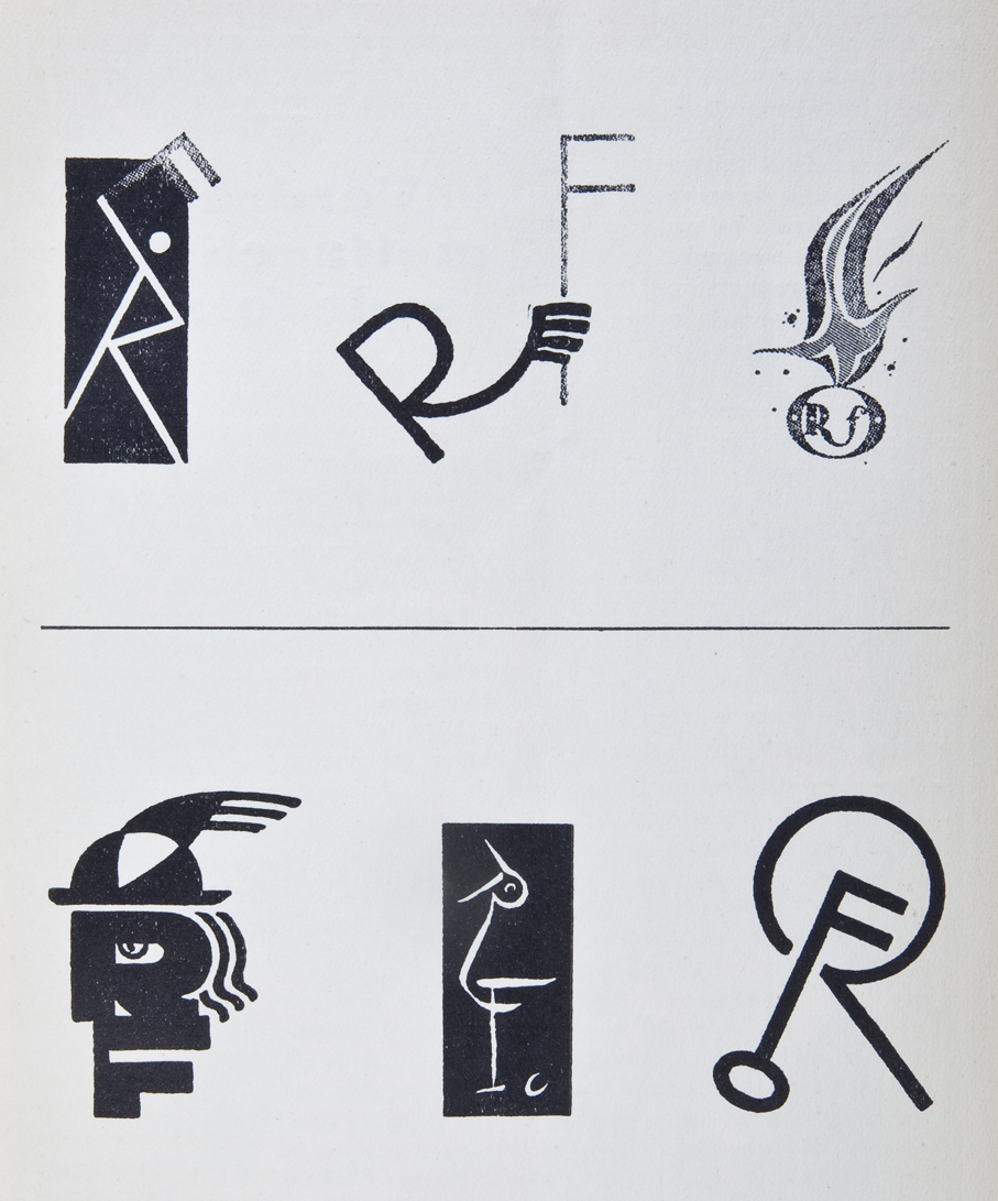 Noen av forslagene til konkurransen om merke for Reklameforeningens i 1926.