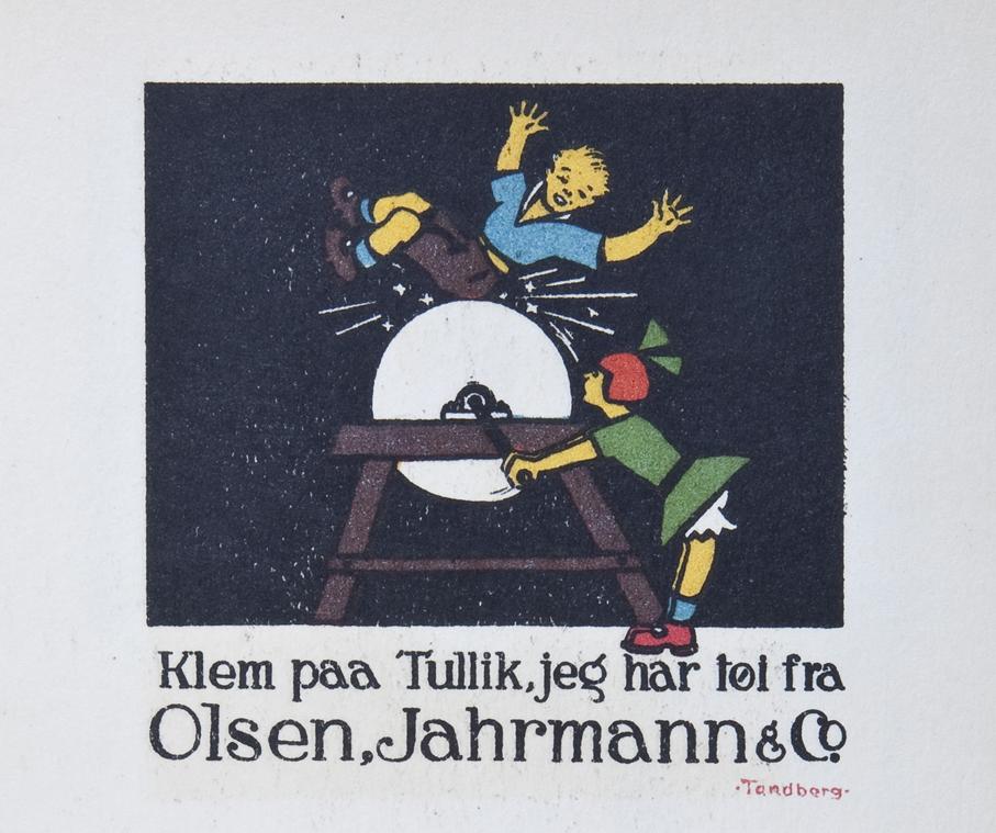 En morsom reklame utført av Gunnar Tandberg i 1926.