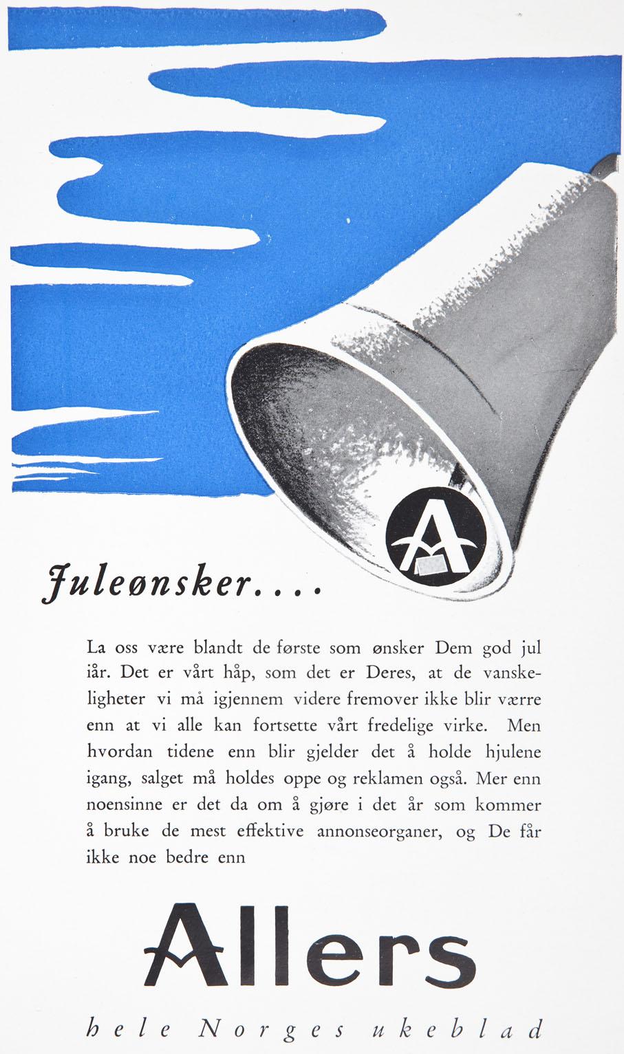 I 1939 ønsket Allers å ringe julen inn med fredlige toner. Bare måneder senere var krigen også rammet Norge, rått og brutalt.