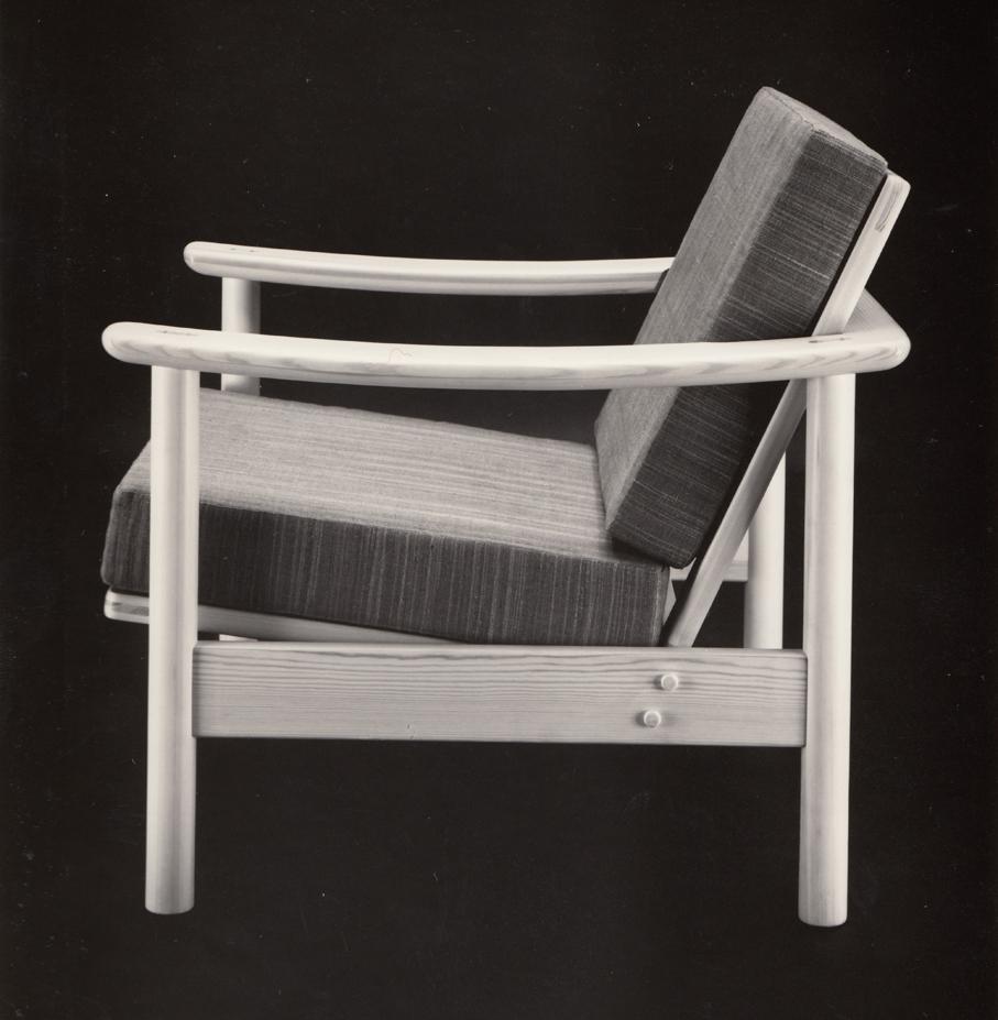 Antagelig Harry Moens prototype til «Glidestol Biri›. Ca. 1960.