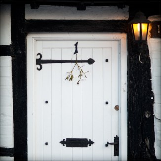 Mat Smith Photography - Christmas Mistletoe, front door in Hurley Village