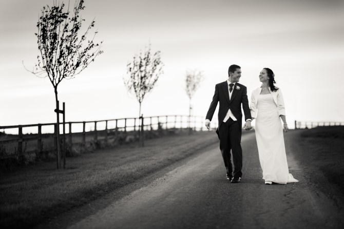 Mat Smith Photography - Country Lane Wedding Portrait - Nick and Carly - Notley Tythe Barn Long Crendon