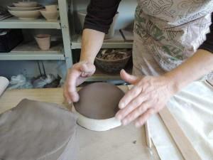石膏型で成形