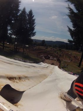 Super Water slide! Camera turned off after I took a dip in the muddy waters.