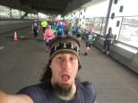 I had to take a self shot on the bridge! I'm not sure when I will be able to run on the car portion of the bridge again!