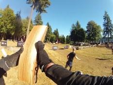 Catching wood..