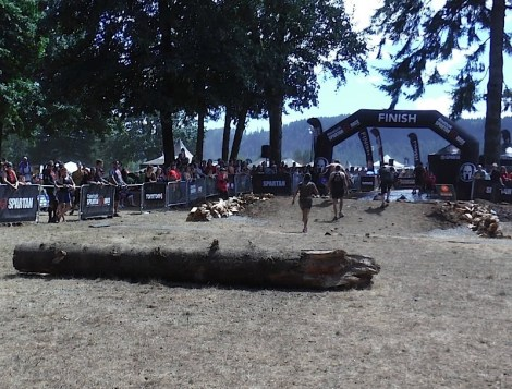The logs resting place near the end of the Sprint course