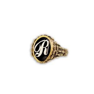 anello iniziale a rilievo mandorlato