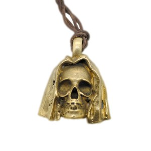 anello artigianale napoli-ciodolo teschio sudario bronzo