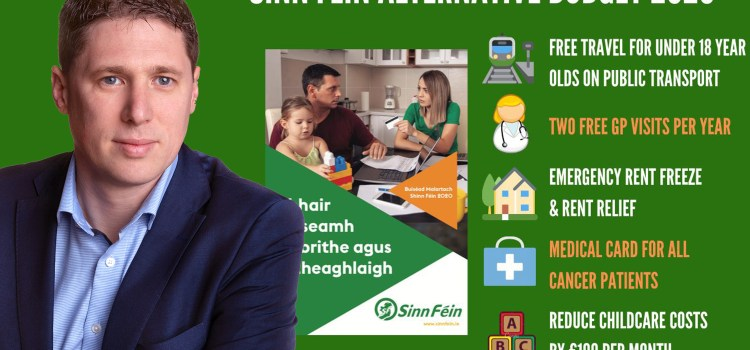 Local MEP says that Sinn Féin Alternative Budget 2020 would give Monaghan families and workers a break