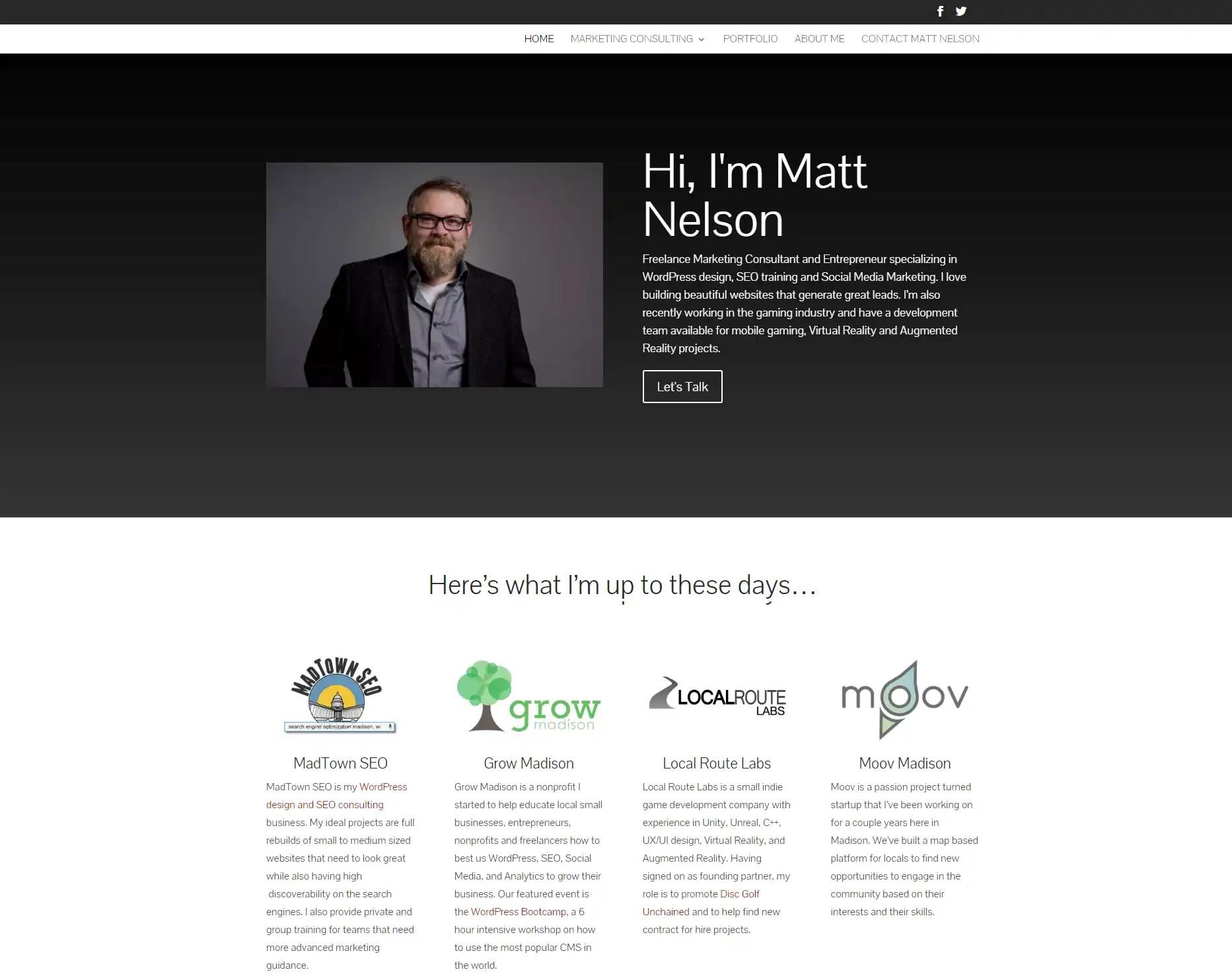 Matt Nelson | Freelance Wordpress Design, SEO, Social Media
