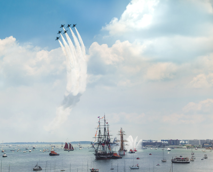Blue Angels over Old Ironsides