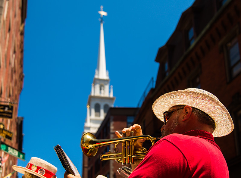 Trumpet Player with Old North