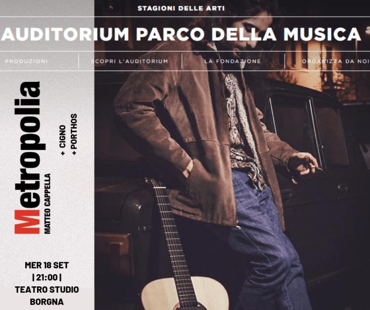 Matteo Cappella Auditorium Parco della Musica Roma